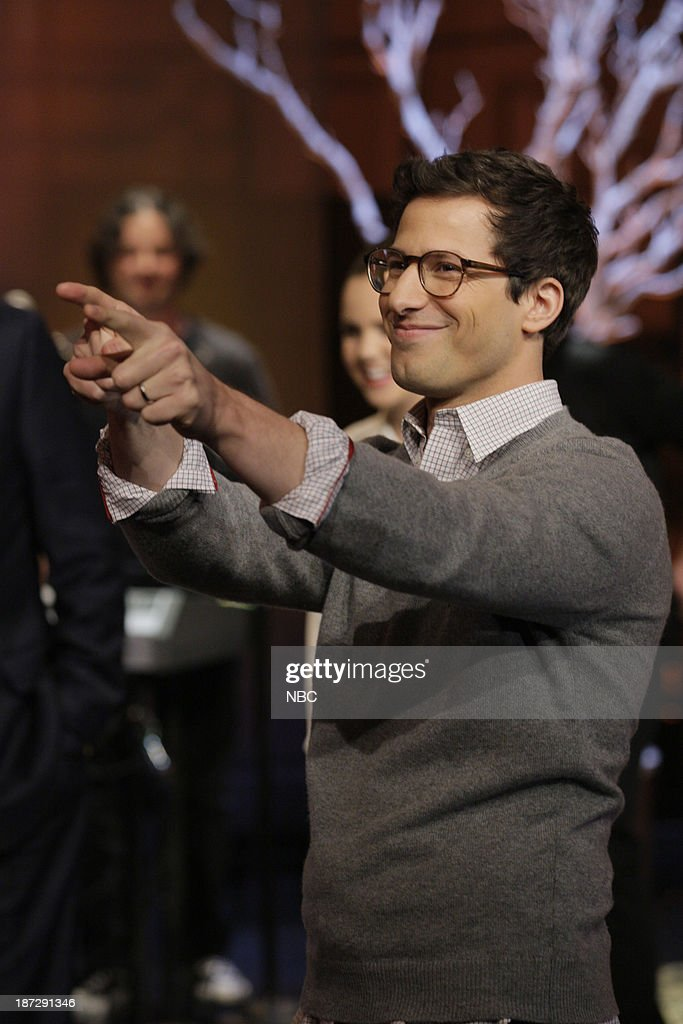 Actor <a gi-track='captionPersonalityLinkClicked' href=/galleries/search?phrase=Andy+Samberg&family=editorial&specificpeople=595651 ng-click='$event.stopPropagation()'>Andy Samberg</a> on November 7, 2013 --