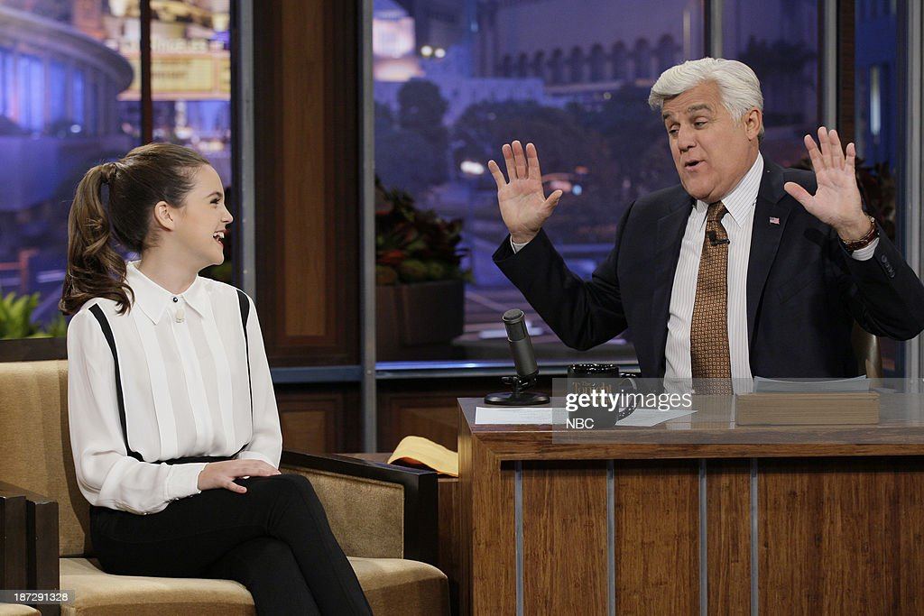 Actress Bailee Madison during an interview with host Jay Leno on November 7, 2013 --
