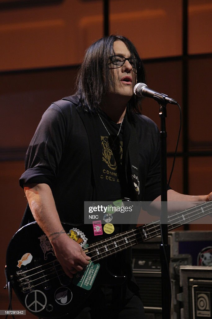 Robby Takac of musical guest the Goo Goo Dolls performs on November 7, 2013 --