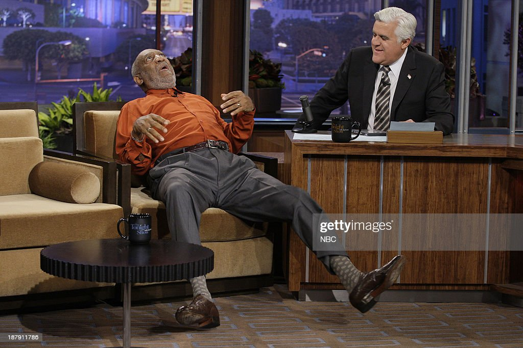 Comedian <a gi-track='captionPersonalityLinkClicked' href=/galleries/search?phrase=Bill+Cosby&family=editorial&specificpeople=206281 ng-click='$event.stopPropagation()'>Bill Cosby</a> during an interview with host Jay Leno on November 13, 2013 --