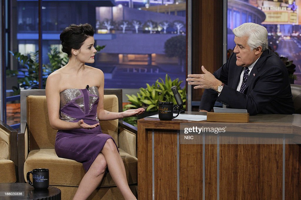 Actress Jaimie Alexander during an interview with host Jay Leno on November 14, 2013 --