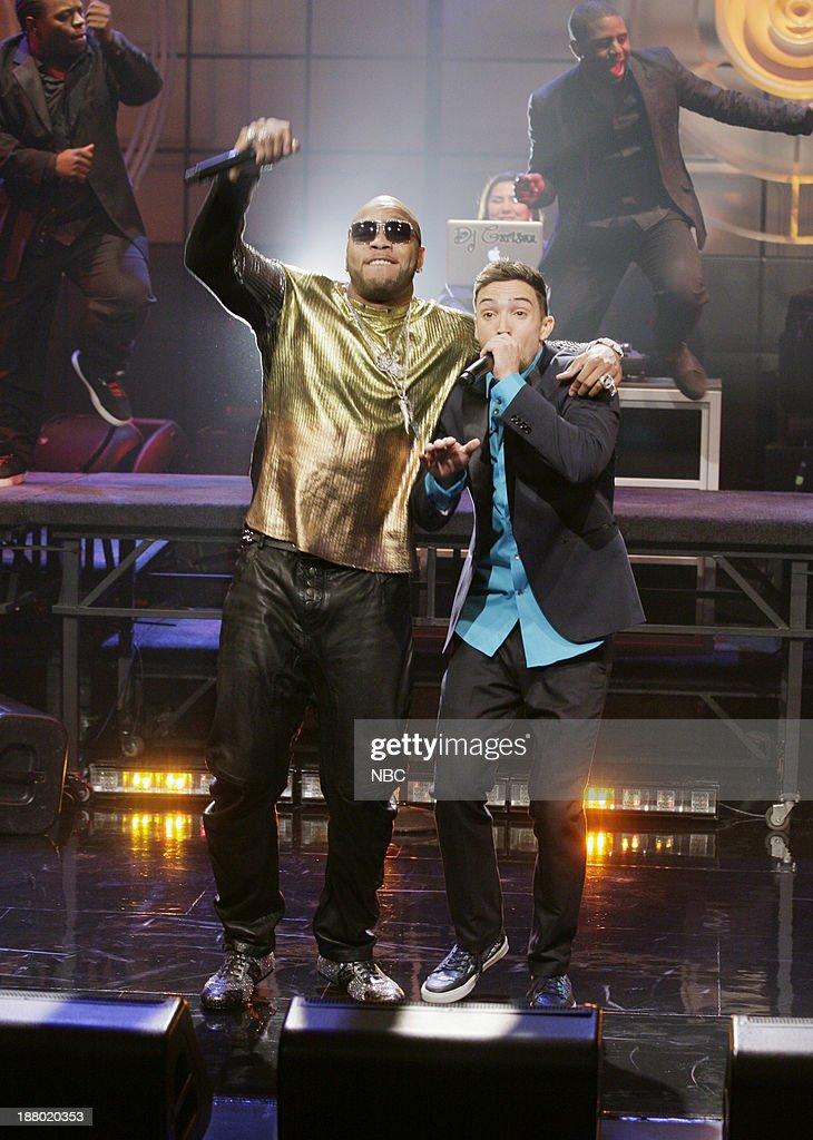 Musical guests Flo Rida, J Rand perform on November 14, 2013 --