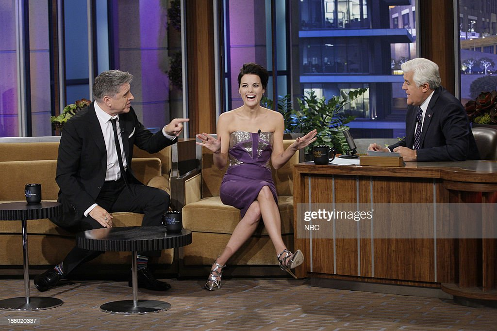 Talk show host <a gi-track='captionPersonalityLinkClicked' href=/galleries/search?phrase=Craig+Ferguson+-+Talkshow-Moderator&family=editorial&specificpeople=204509 ng-click='$event.stopPropagation()'>Craig Ferguson</a>, Actress <a gi-track='captionPersonalityLinkClicked' href=/galleries/search?phrase=Jaimie+Alexander&family=editorial&specificpeople=544496 ng-click='$event.stopPropagation()'>Jaimie Alexander</a> during an interview with host Jay Leno on November 14, 2013 --