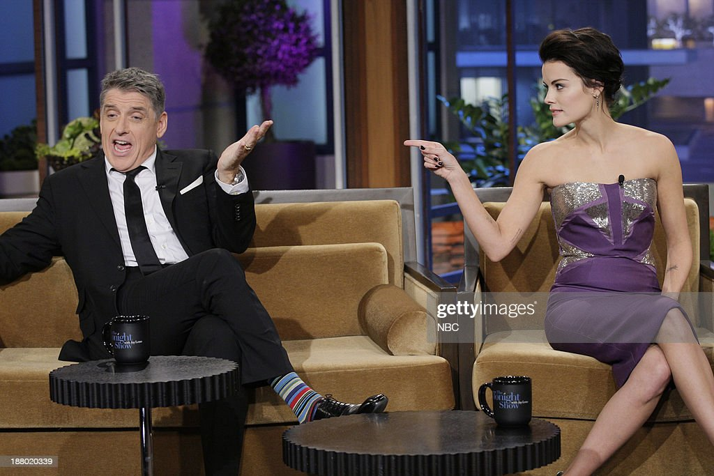 Talk show host <a gi-track='captionPersonalityLinkClicked' href=/galleries/search?phrase=Craig+Ferguson+-+Talkshow-Moderator&family=editorial&specificpeople=204509 ng-click='$event.stopPropagation()'>Craig Ferguson</a>, Actress <a gi-track='captionPersonalityLinkClicked' href=/galleries/search?phrase=Jaimie+Alexander&family=editorial&specificpeople=544496 ng-click='$event.stopPropagation()'>Jaimie Alexander</a> during an interview on November 14, 2013 --