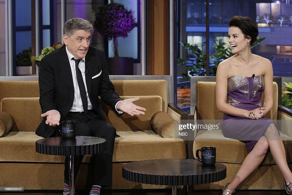 Talk show host Craig Ferguson, Actress Jaimie Alexander during an interview on November 14, 2013 --