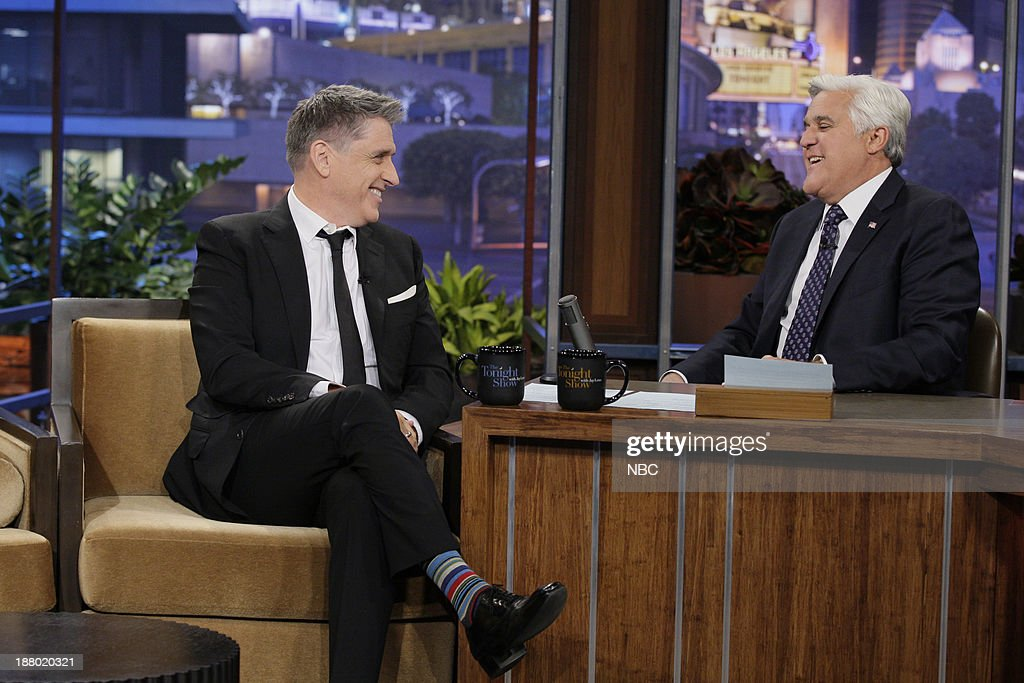 Talk show host <a gi-track='captionPersonalityLinkClicked' href=/galleries/search?phrase=Craig+Ferguson+-+Talk+Show+Host&family=editorial&specificpeople=204509 ng-click='$event.stopPropagation()'>Craig Ferguson</a> during an interview with host Jay Leno on November 14, 2013 --