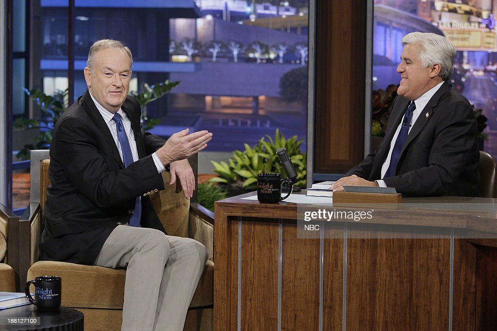 Talk show host Bill O'Reilly during an interview with host Jay Leno on November 18, 2013 --