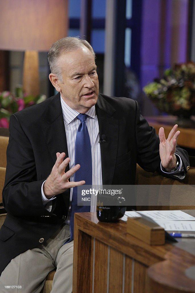 Talk show host Bill O'Reilly during an interview on November 18, 2013 --