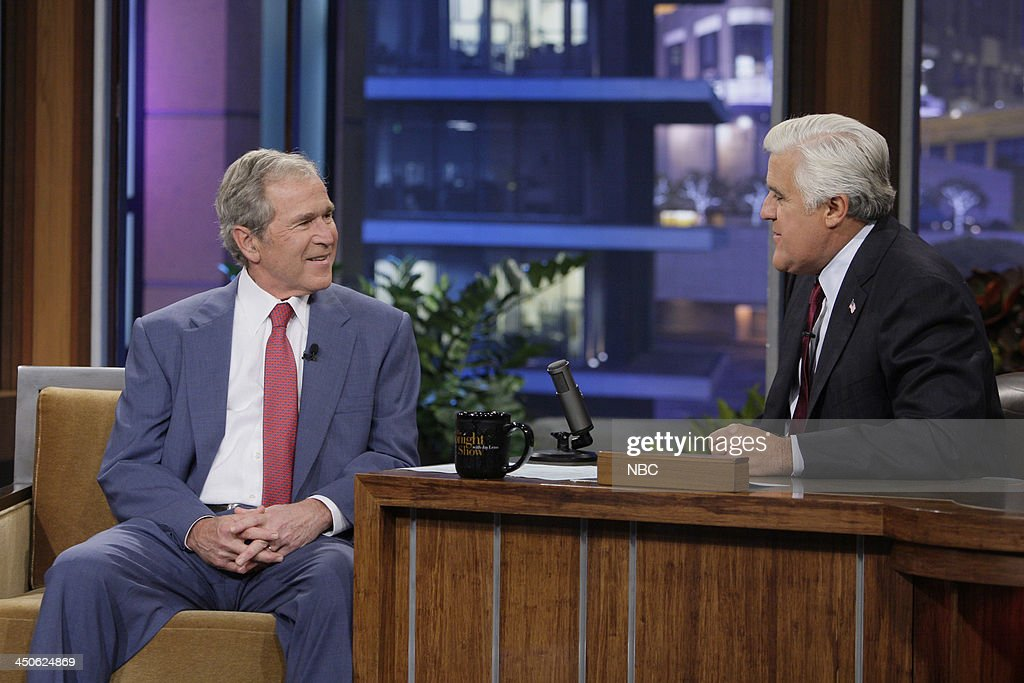 Former President George W. Bush during an interview with host Jay Leno on November 19, 2013 --