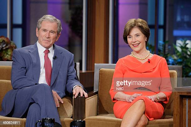 Former President George W Bush Former First Lady Laura Bush during an interview on November 19 2013