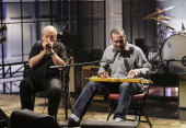 Musical guests Charlie Musselwhite Ben Harper perform on November 19 2013