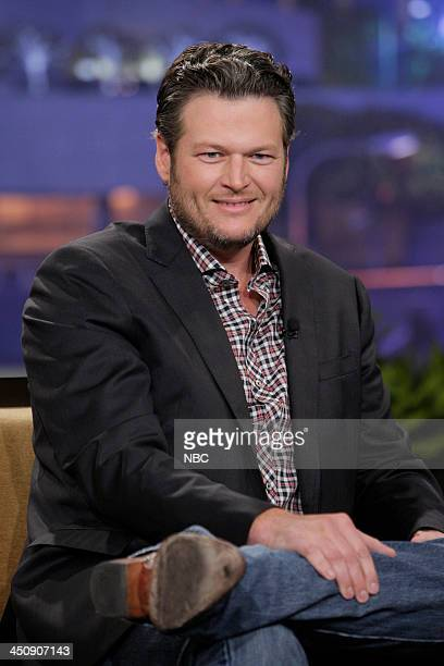 Country singer Blake Shelton during an interview on November 20 2013