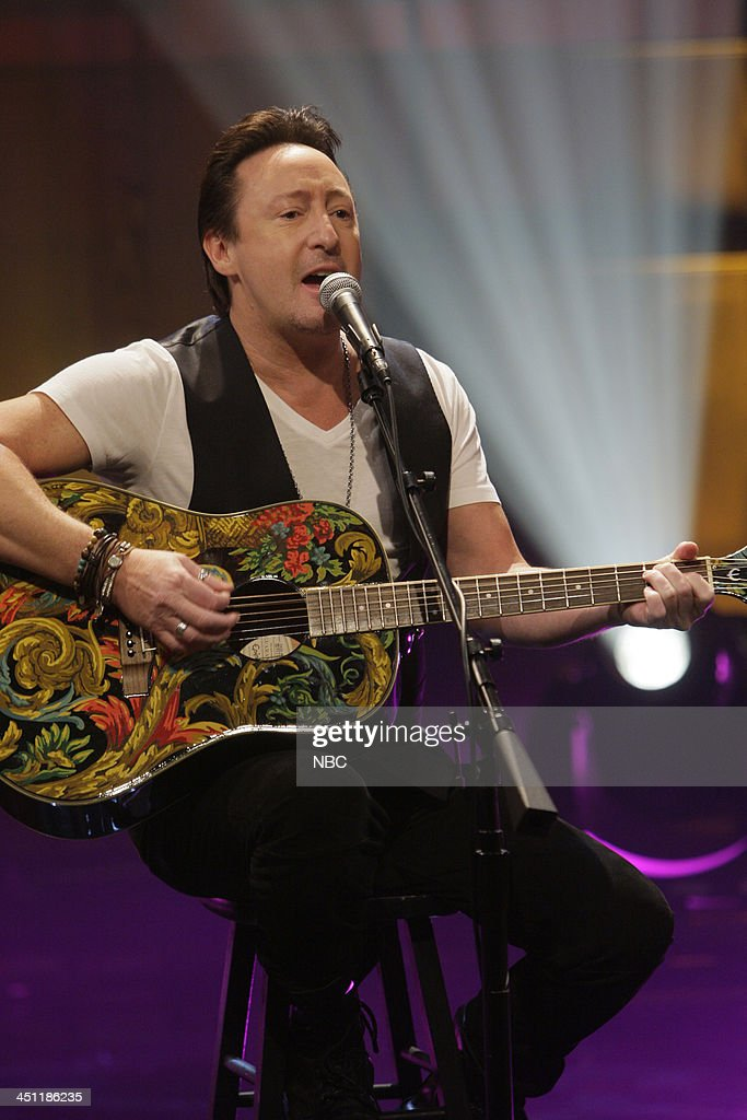 Musical guest <a gi-track='captionPersonalityLinkClicked' href=/galleries/search?phrase=Julian+Lennon&family=editorial&specificpeople=211480 ng-click='$event.stopPropagation()'>Julian Lennon</a> performs on November 21, 2013 --