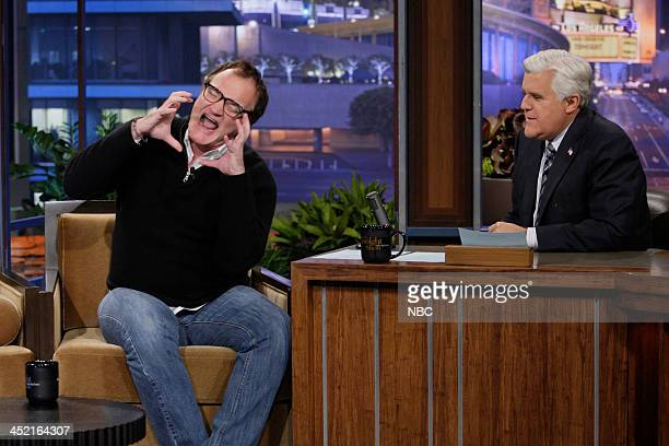 Director Quentin Tarantino during an interview with host Jay Leno on November 26 2013