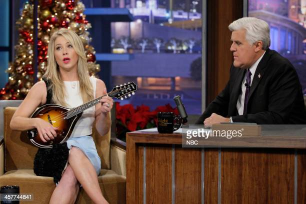 Actress Christina Applegate during an interview with host Jay Leno on December 18 2013