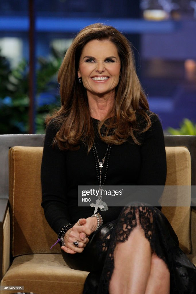 Journalist Maria Shriver during an interview on January 8 2014