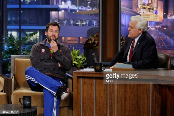 Comedian Adam Sandler during an interview with host Jay Leno on January 21 2014