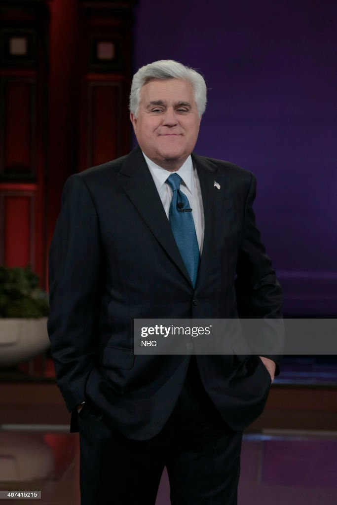 Host <a gi-track='captionPersonalityLinkClicked' href=/galleries/search?phrase=Jay+Leno+-+Television+Host&family=editorial&specificpeople=156431 ng-click='$event.stopPropagation()'>Jay Leno</a> during the monologue on February 6, 2014 --