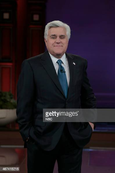 Host Jay Leno during the monologue on February 6 2014