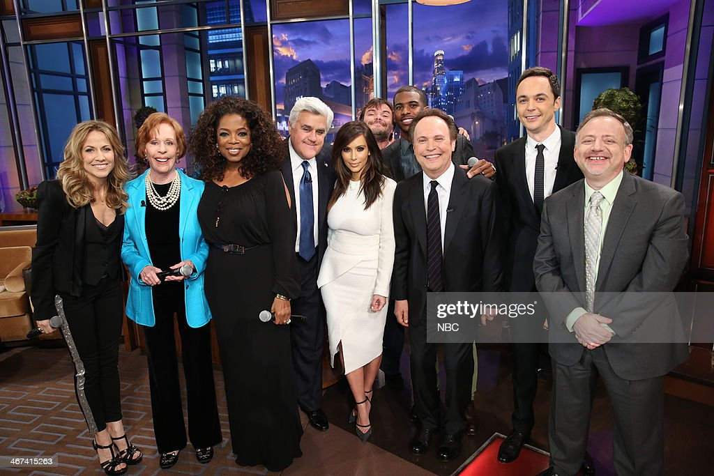 Sheryl Crow, Carol Burnett, Oprah Winfrey, host Jay Leno, Kim Kardashian, Jack Black, Chris Paul, Billy Crystal, Jim Parsons and composer Marc Shaiman on February 6, 2014 --