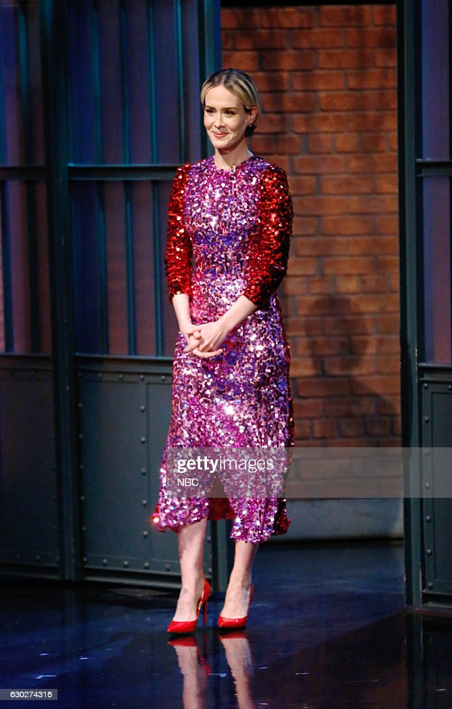 "NBC's ""Late Night With Seth Meyers"" With Guests Sarah Paulson, Taran Killam & Marc Andreyko, Tori Kelly"