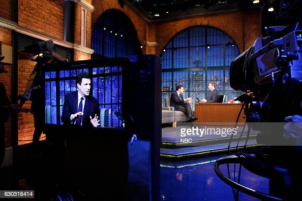 Editor of The New Yorker David Remnick during an interview with host Seth Meyers on December 20 2016