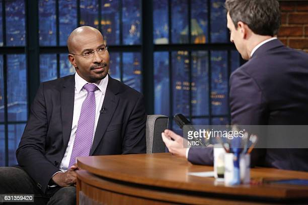 Political commentator Van Jones during an interview with host Seth Meyers on January 9 2016