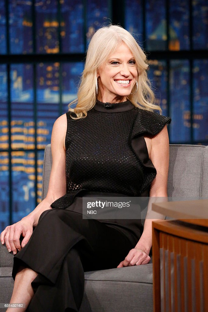 """NBC's """"Late Night With Seth Meyers"""" With Guests Ken Jeong, Kellyanne Conway, Mike Schur"""
