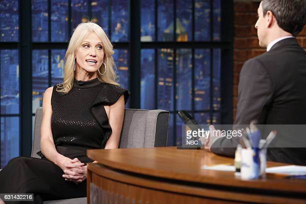 Kellyanne Conway during an interview with host Seth Meyers on January 10 2016