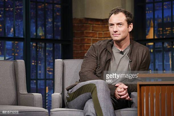 Actor Jude Law during an interview on January 12 2017