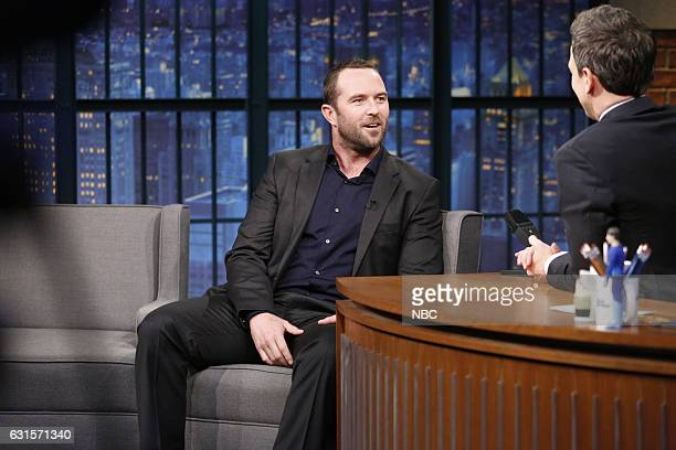 Actor Sullivan Stapleton during an interview with host Seth Meyers on January 12 2017