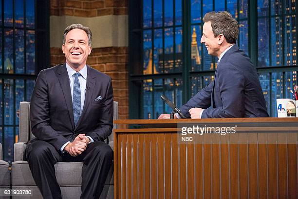 Journalist Jake Tapper during an interview with host Seth Meyers on January 16 2017
