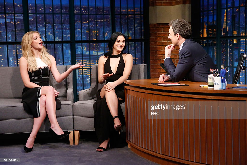 "NBC's ""Late Night With Seth Meyers"" With Guests Timothy Olyphant, Lili Reinhart & Camila Mendes, Nelly Furtado"