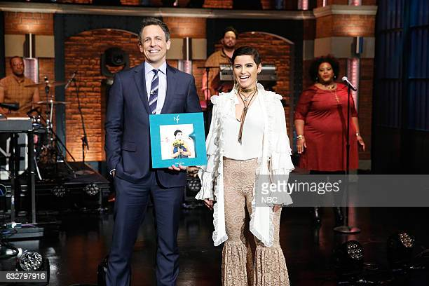 Host Seth Meyers musical guest Nelly Furtado on January 26 2017