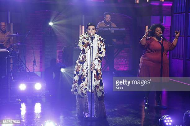 Musical guest Nelly Furtado performs on January 26 2017
