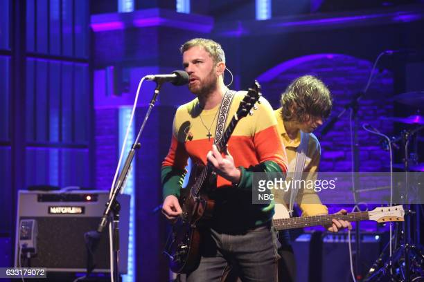 Musical guest Caleb Followill of Kings of Leon performs on January 30 2017