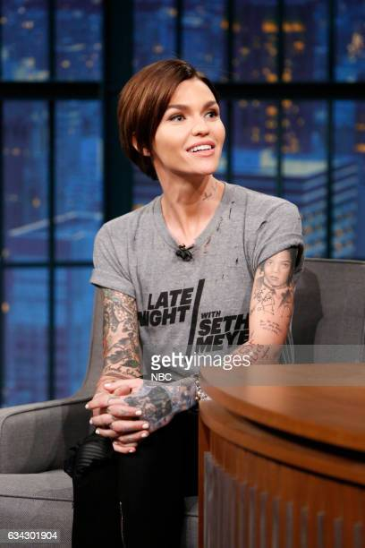 Actress Ruby Rose during an interview on February 8 2017