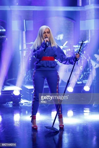 Musical guest Bebe Rexha performs on February 16 2017