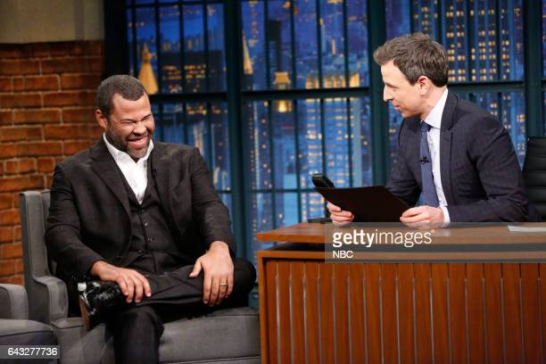 Comedian Jordan Peele during an interview with host Seth Meyers on February 20 2017