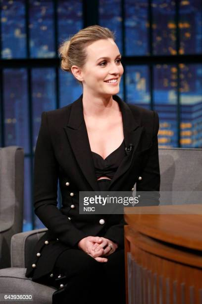 Actress Leighton Meester during an interview on February 22 2017