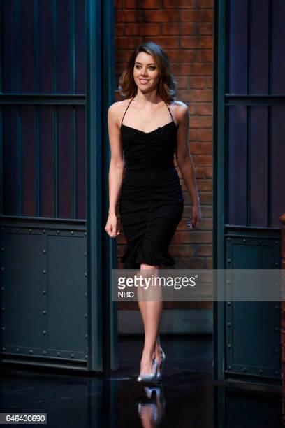 Actress Aubrey Plaza arrives on February 28 2017
