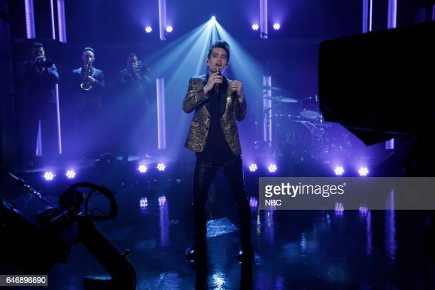 Brendon Urie of musical guest Panic At The Disco performs on March 1 2017