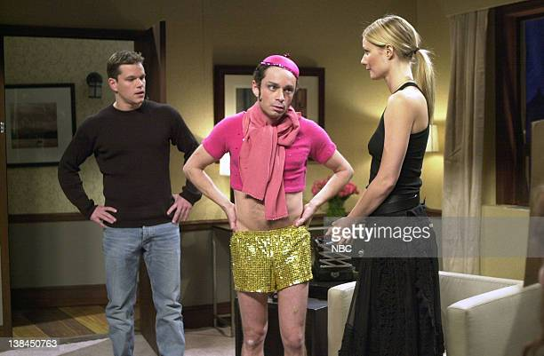 LIVE Episode 5 Air Date Pictured Matt Damon Chris Kattan as Mango Gwyneth Paltrow during the 'Mango Gwyneth' skit on November 10 2001