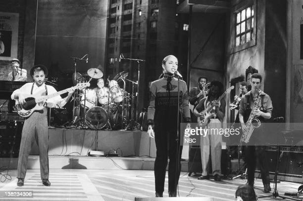 Sade during musical performace on December 14 1985
