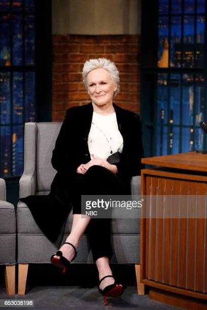 Actress Glenn Close during an interview on March 13 2017
