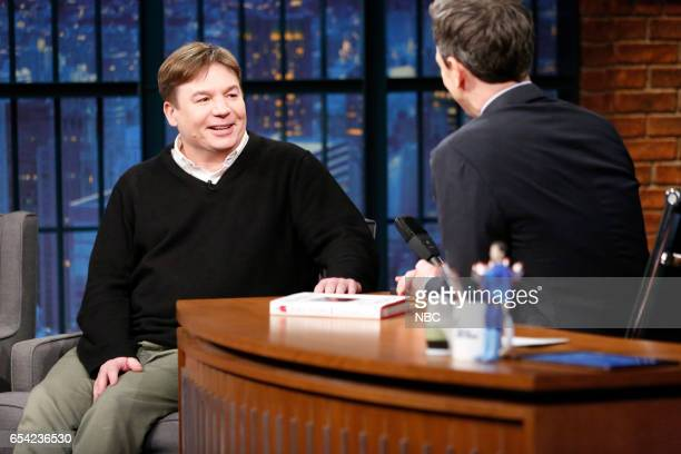 Actor Mike Myers during an interview with host Seth Meyers on March 16 2017