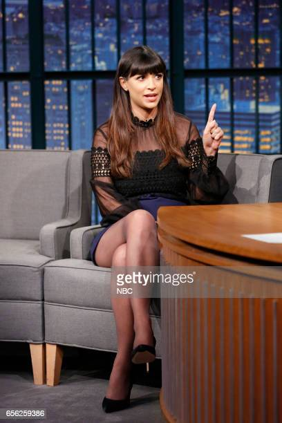 Actress Hannah Simone during an interview on March 21 2017