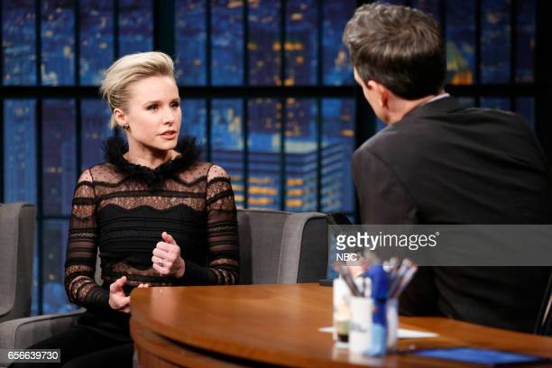 Actress Kristen Bell during an interview with host Seth Meyers on March 22 2017