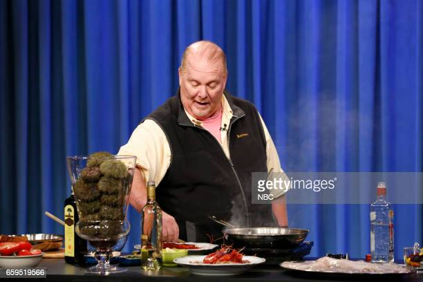 Chef Mario Batali during an cooking segment on March 28 2017