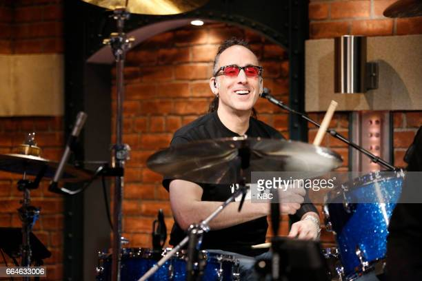 Drummer Jonathan Mover sits in with the 8G Band on on April 4 2017